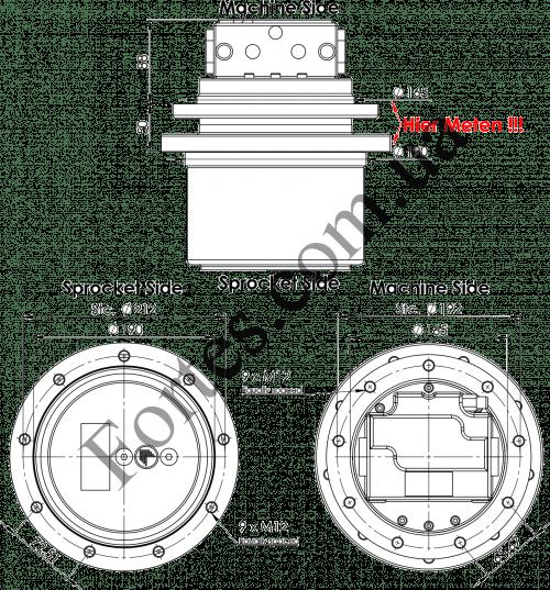 Редуктор Kubota KX71-2